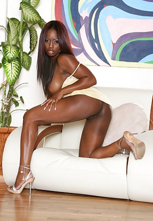 Hot Ebony High Heels